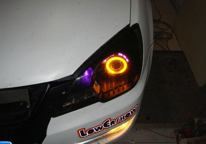 V3菱悦改装天使眼大灯
