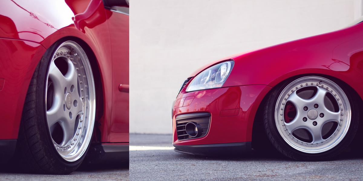 大众MK5 GTI低趴不忘秀红唇