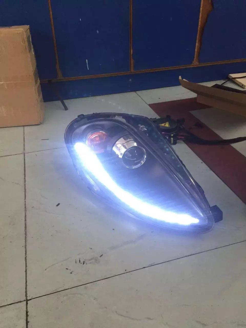 法拉利车队改装升级海拉5,LED日行灯