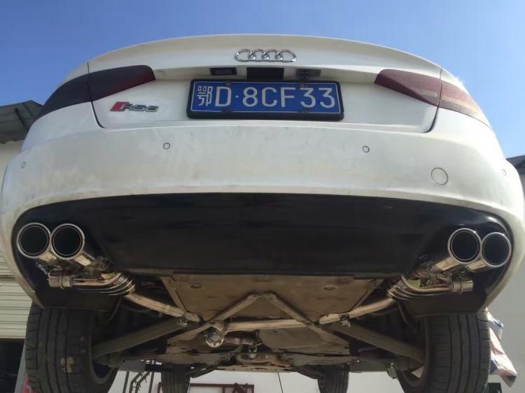 奥迪A5升级SETRS双吉利排气。-帝豪,A5-车阀门奥迪GS剩最后一格油图片