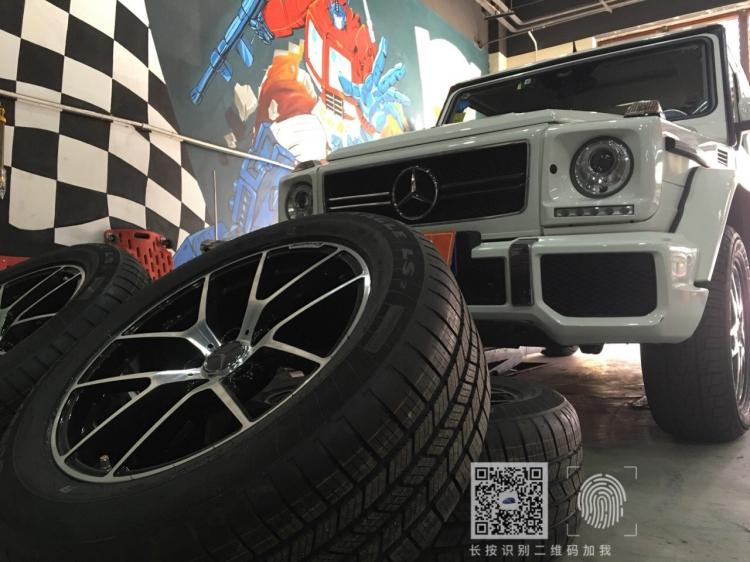 奔驰G 500锻造轮毂上车