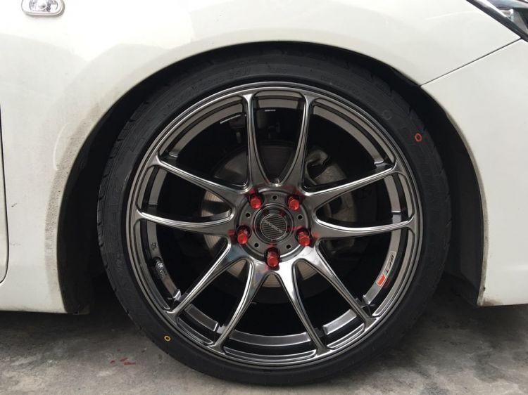 【轮驰 胎铃】本田思域换装WORK CR Kiwami 18寸高亮黑效果霸气,此款还有前后配双色之选