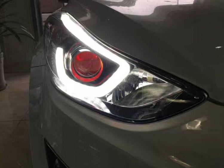 重庆安达迩专业车灯改装现代朗动改氙灯