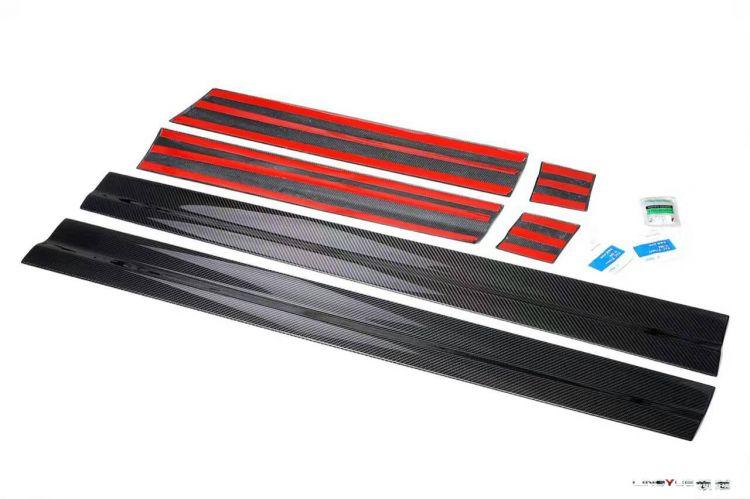 新款卡宴碳纤维门板!高端大气上档次!