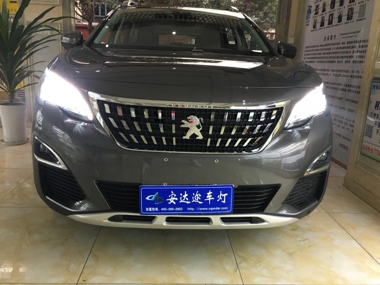 重庆首台标致4008改车灯总成氙气大灯
