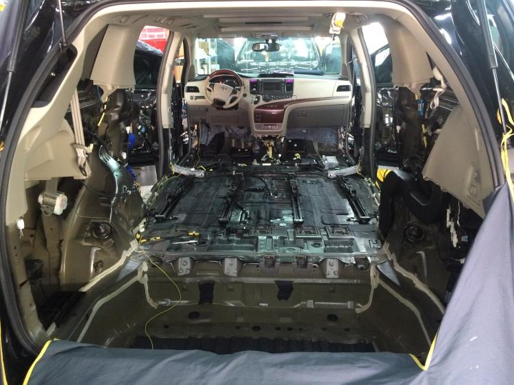 丰田塞纳全车进口赛伦科特隔音降噪