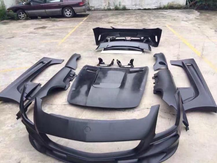 奔驰sls w197改装black series大包围 机盖 尾翼 sls改装黑色系列大包围