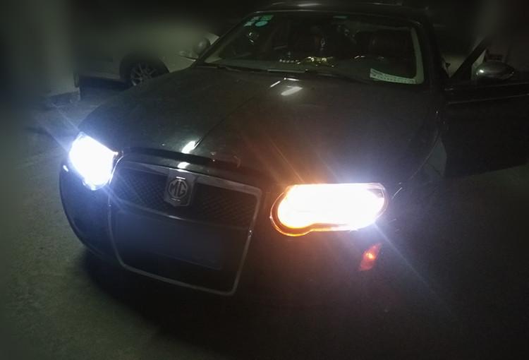 名爵MG7改灯大灯翻新 加装LED日行灯