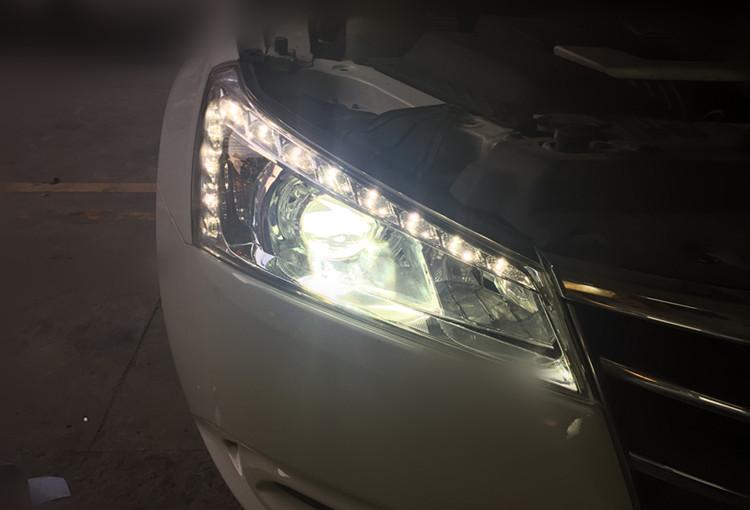 纳智捷5改灯 升级Q5双光透镜