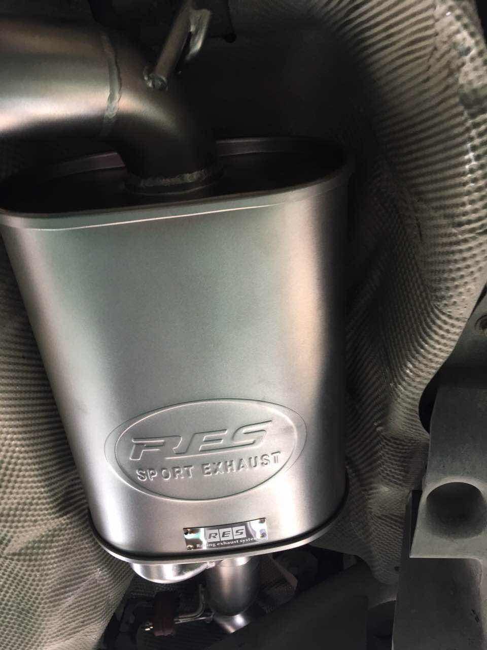 马自达3 安装RES中尾段阀门排气