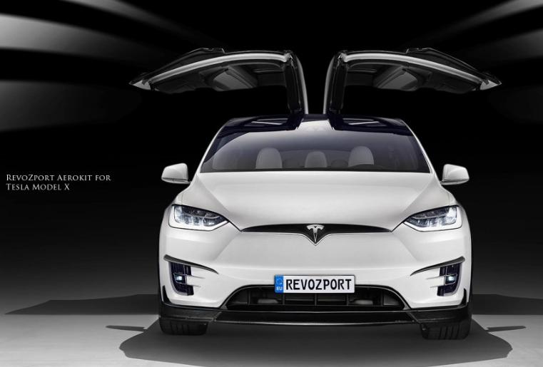 特斯拉model X改装revozport碳纤维小包围