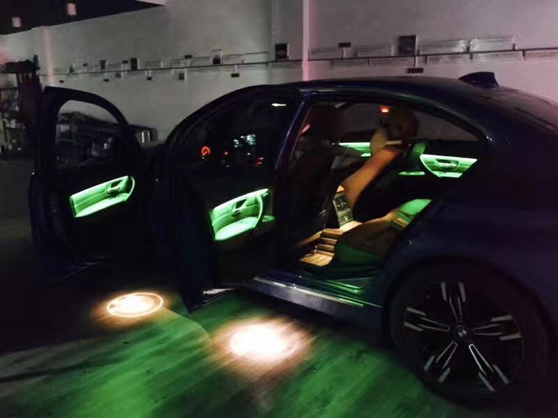 成都氛围灯改装宝马5系安装效果图分享