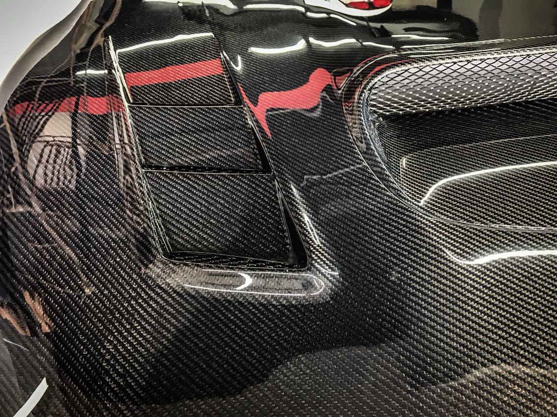 BRZ铝合金机盖改cmst全碳纤维机盖