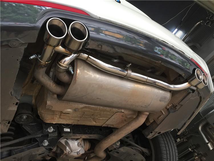宝马320 B48改装四出排气尾喉套件