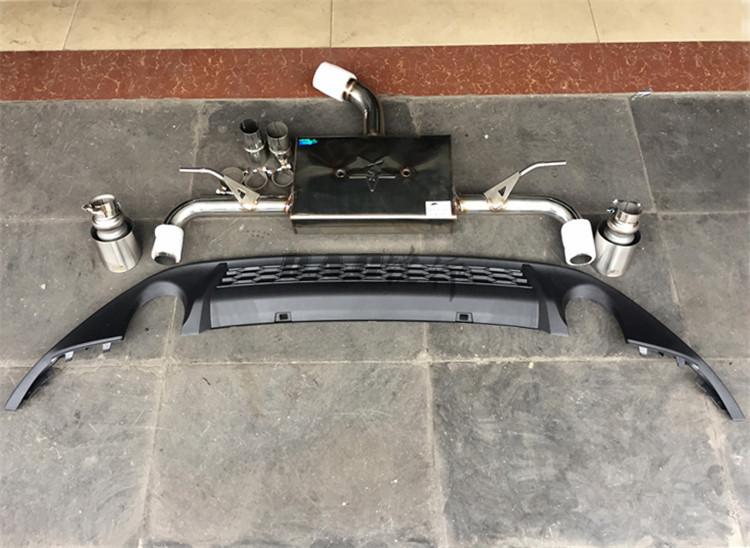 高尔夫7改装雷鸟排气GTI款后唇碳纤尾翼
