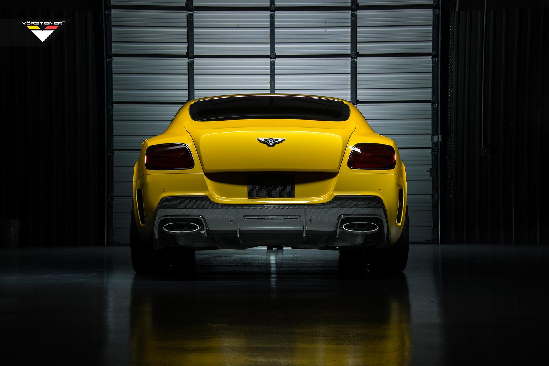 新款宾利欧陆GT改装Vorsteiner碳纤前后包围