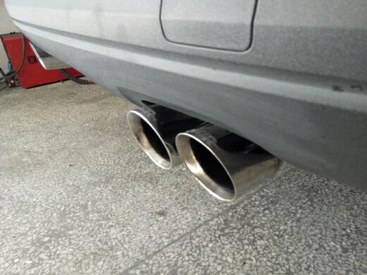 奥迪Q3改装四出阀门排气
