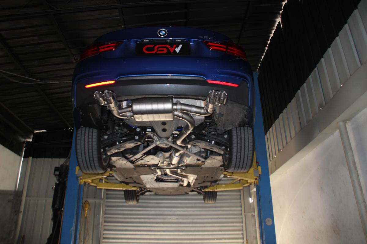 宝马430 2.0T改中尾段带阀门排气管