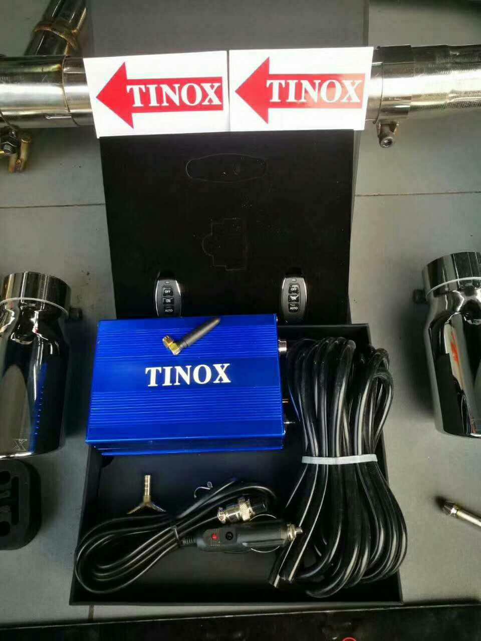 大众CC安装TINOX中尾阀门排气