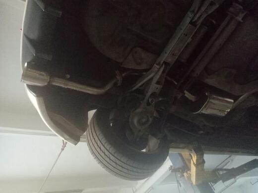 福克斯改装飞龙排气管