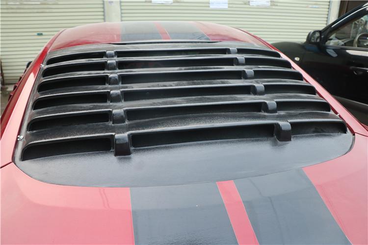 福特野马改装后档风玻璃百叶窗后档刀锋