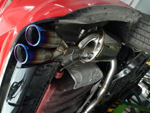 大众凌渡GTS2.0T 改装FDR中段尾段双阀门四出排气系统☀