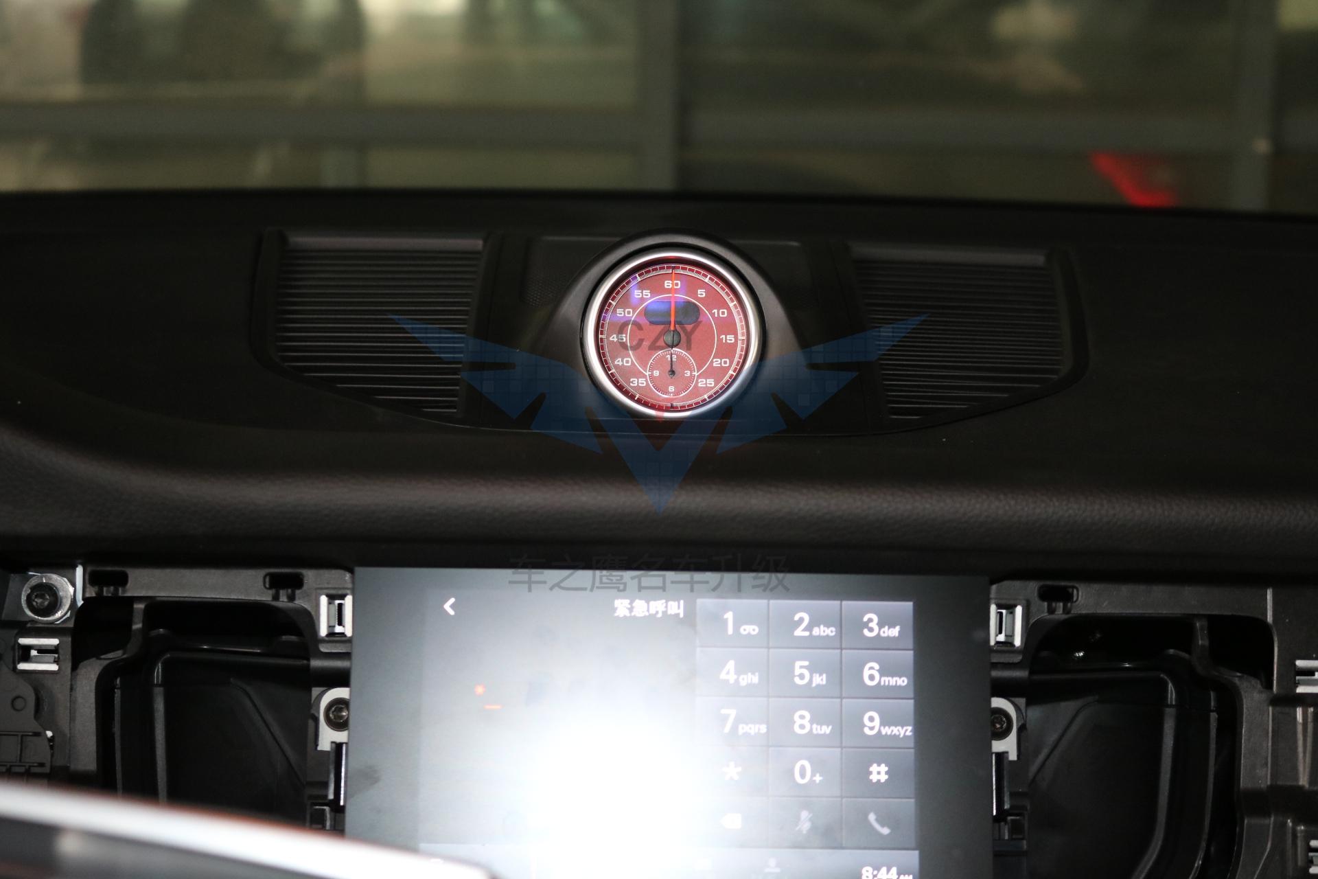 深圳保时捷macan 安装红色秒表