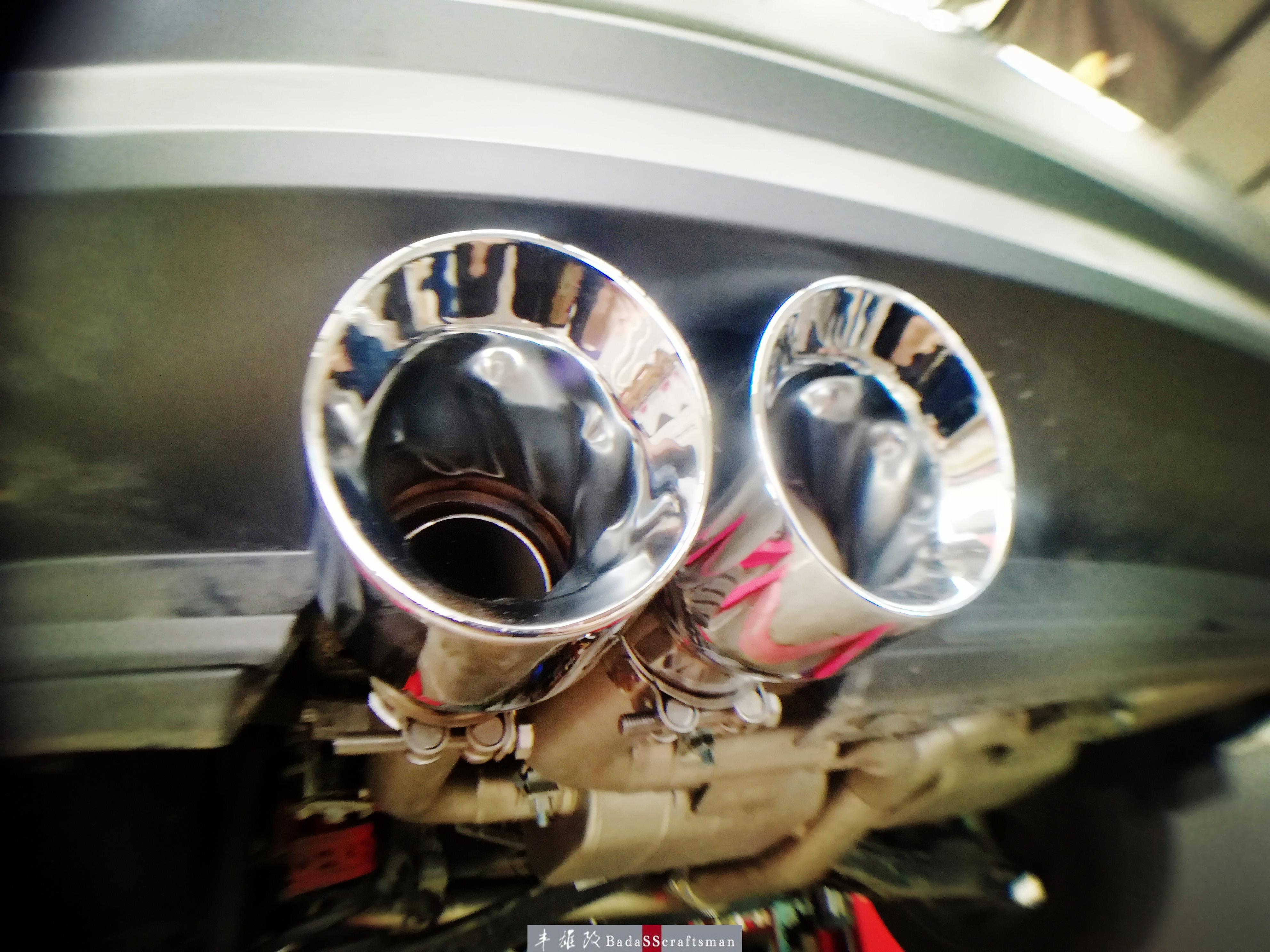 暴走SUV 大众途观改装阀门排气中尾段