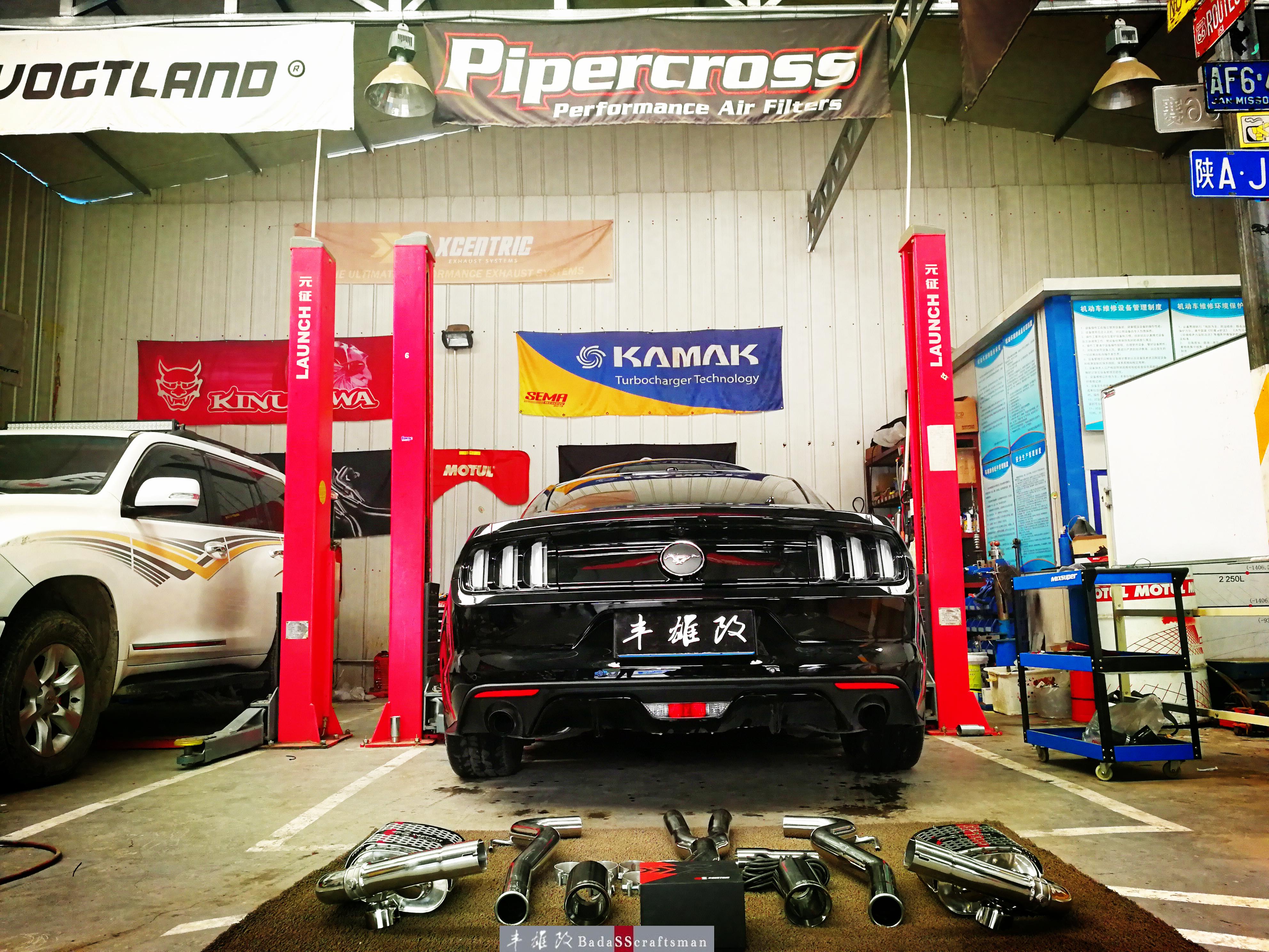 浑厚有力 野马改装XC阀门排气中尾段