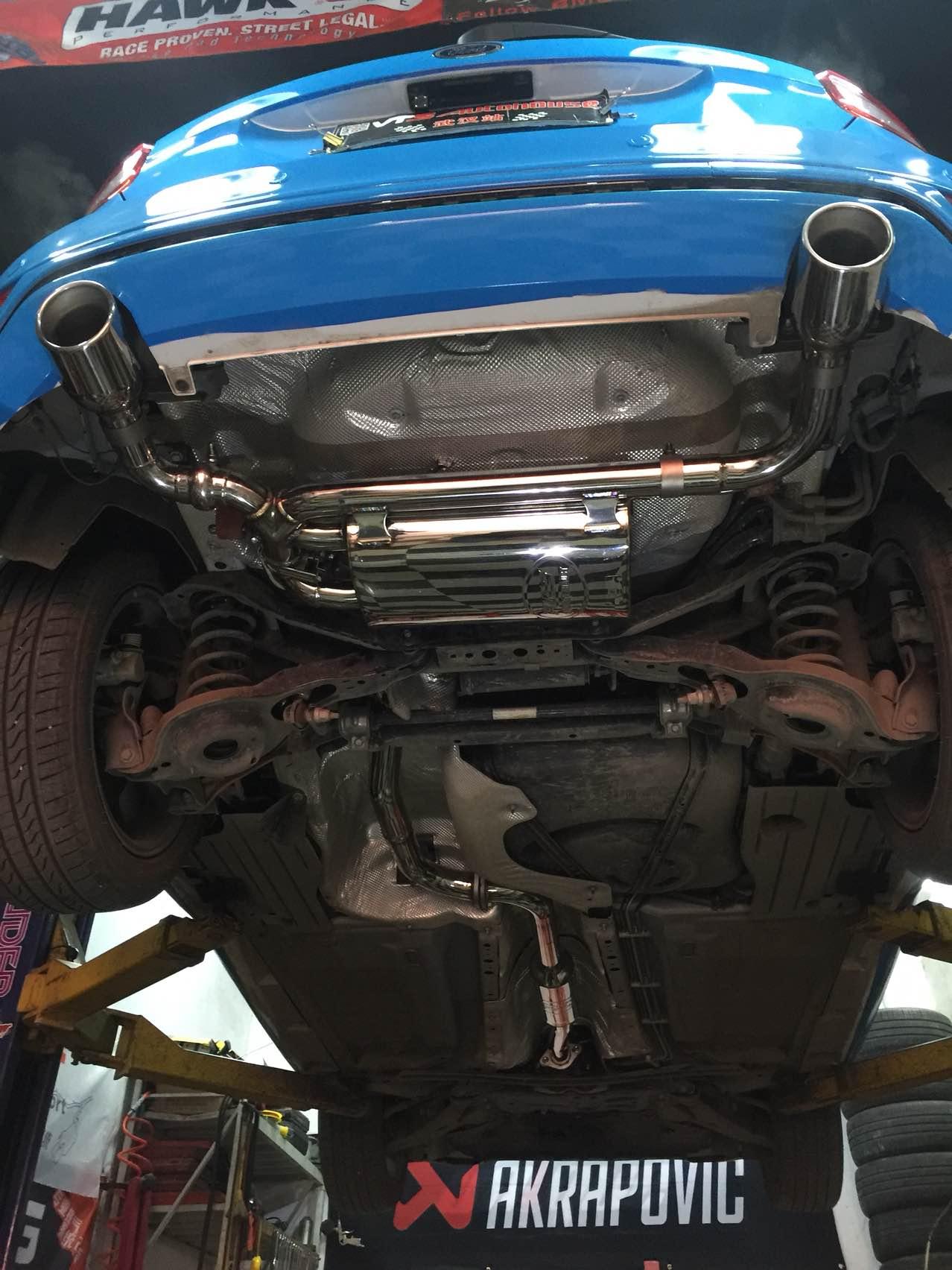 新福克斯1.5T改装RES电子阀门排气中尾段!