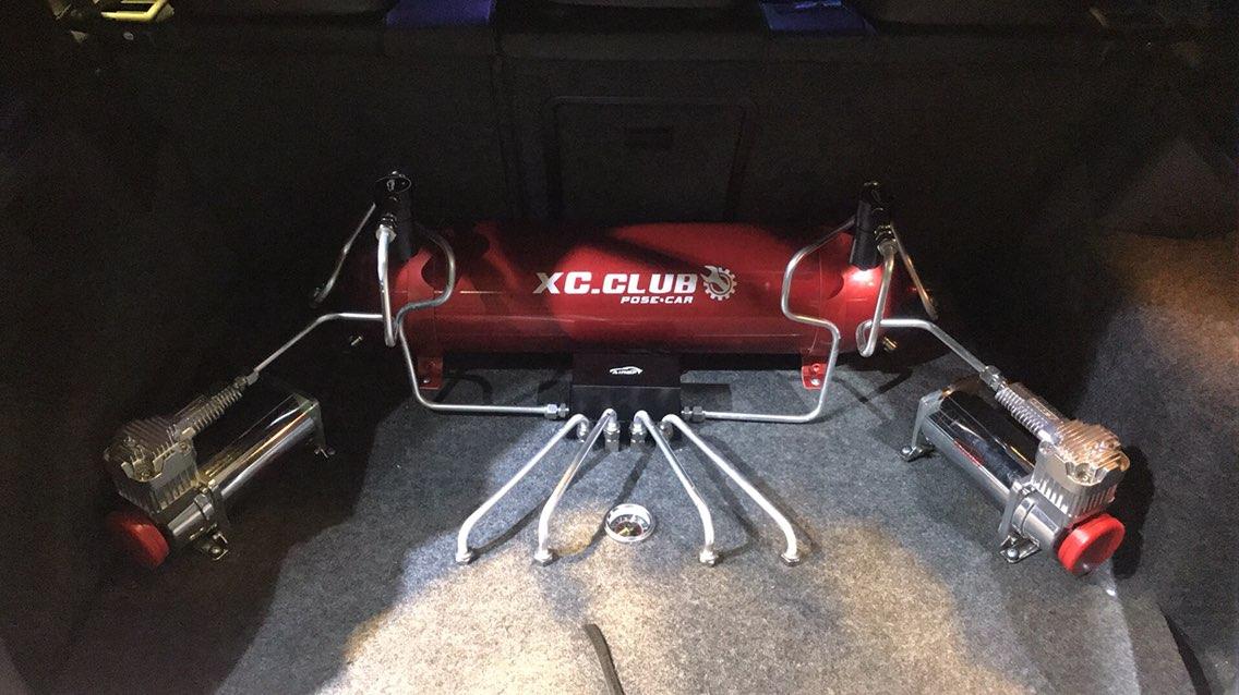 高尔夫6 AIRBFT气动避震 个性后备箱设计 XC.CLUB