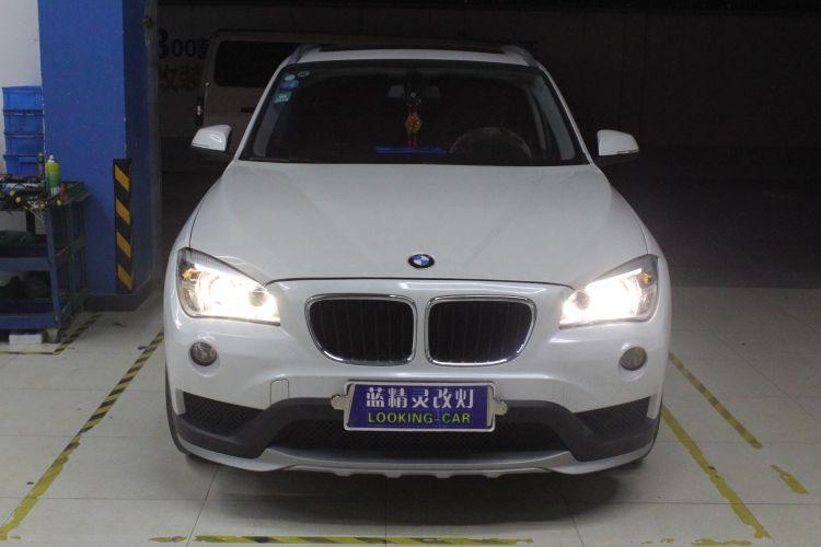 上海蓝精灵宝马X1升级大灯总成