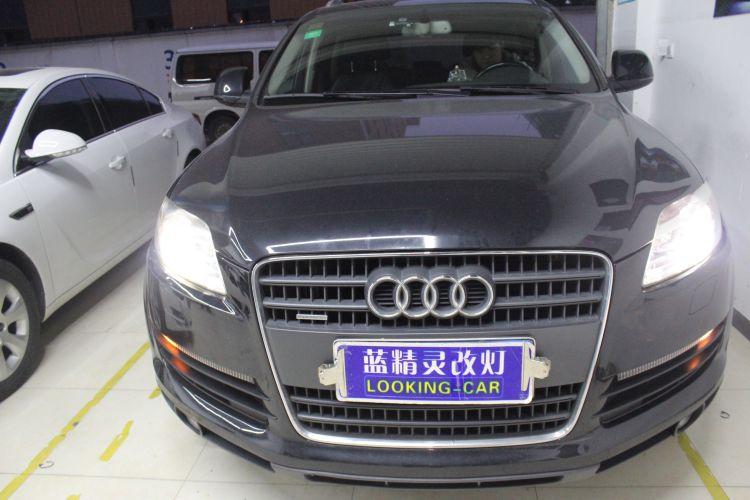 上海奥迪Q7车灯改装海拉5透镜氙气大灯
