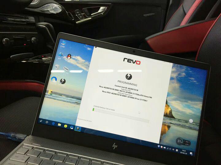 老铁的新座驾,还没上牌就先来支持我的工作,耿直朋友[机智] Audi A7 3.0TFSI第二代机增,REVO Stage1 发动机程序+变速箱程序同时升级,无需繁琐的更换硬件,瞬间提升100多P马力!0-100轻松4.5S,华丽的外表里面也有一颗强大的心脏!