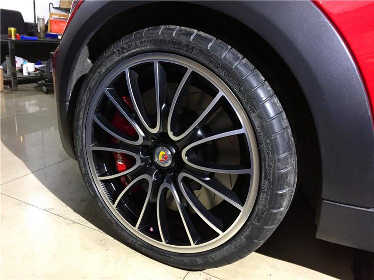 MINI改装AP9040刹车18寸轮毂尾段阀门排气