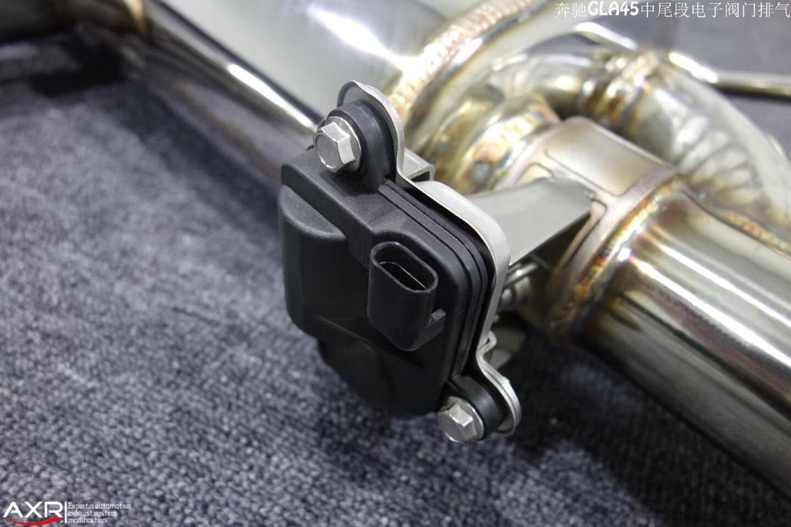 奔驰GLA452014年2.0T升级AXR中尾段双边无嘴电子阀门