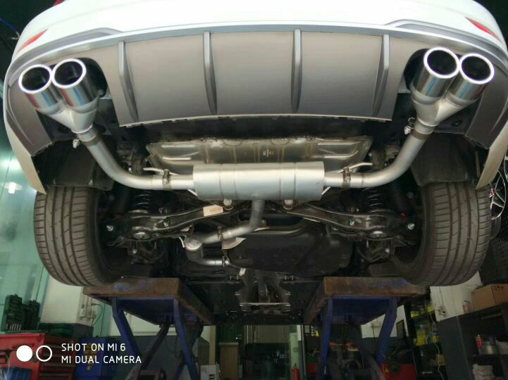 最新款奥迪A3 1.4T 改装  Repose中尾段四出Ra系列排气&S3后唇 涡轮声浪,搭配S3四出后唇,绝配。