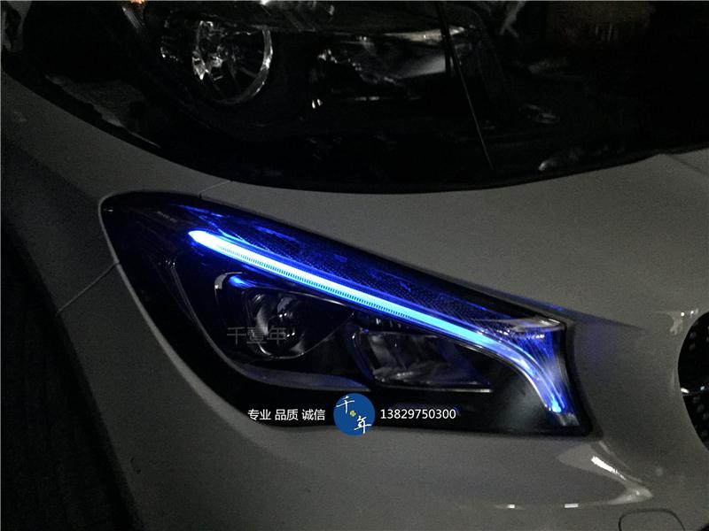 奔驰CLA180、200改装LED大灯尾灯