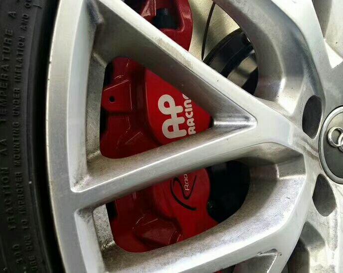 奥迪A6L改装刹车套件ap8520大六活塞强劲卡钳