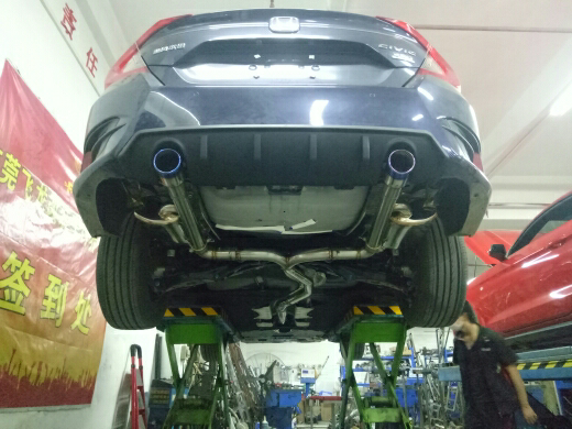 十代思域改装FDR前段中尾段双阀门排气系统