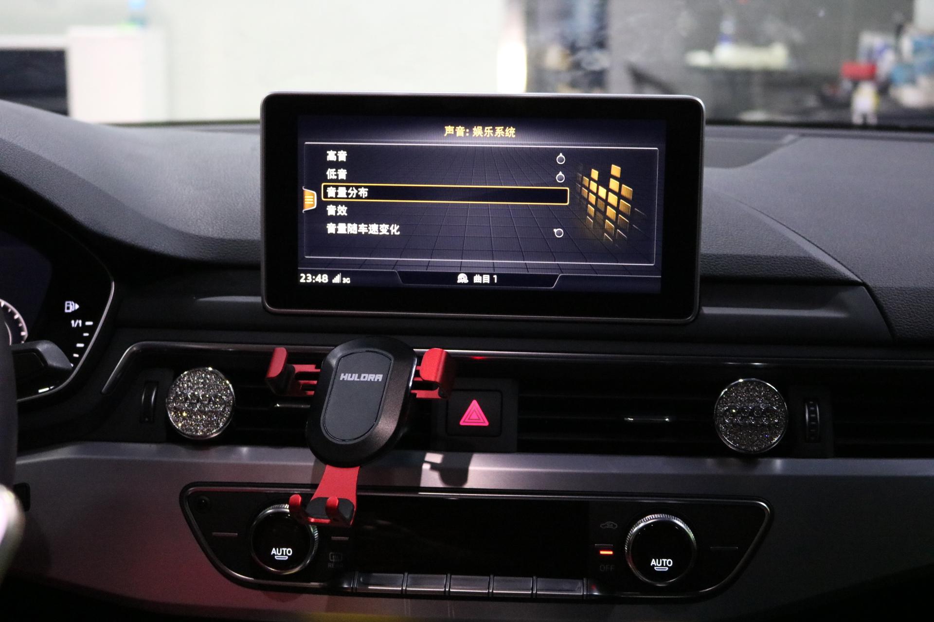 昆明新款奥迪A4升级B&O环绕19个喇叭。