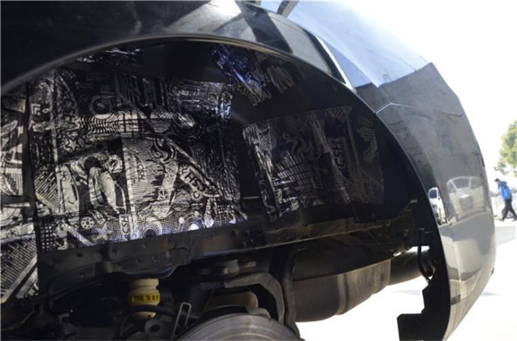 武汉车改坊雪铁龙C6翼子板STP隔音降噪