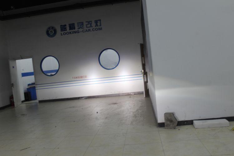 上海蓝精灵本田飞度改车灯