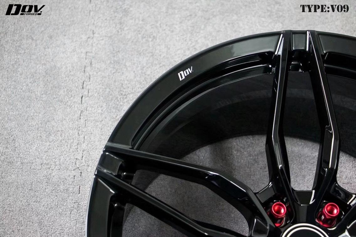 玛莎拉蒂吉博力升级DOV forged 20寸单片式锻造轮毂!现货20寸供中!