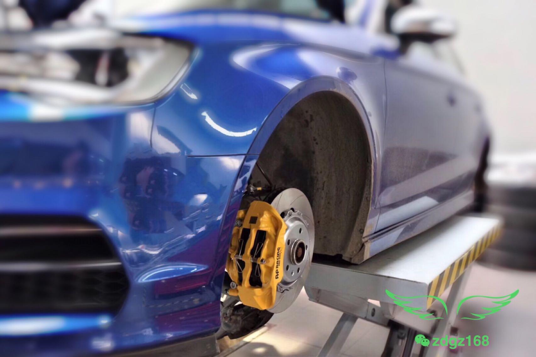 奥迪S3刹车改装升级原装Ap9440 5000R大四活塞刹车卡钳套件