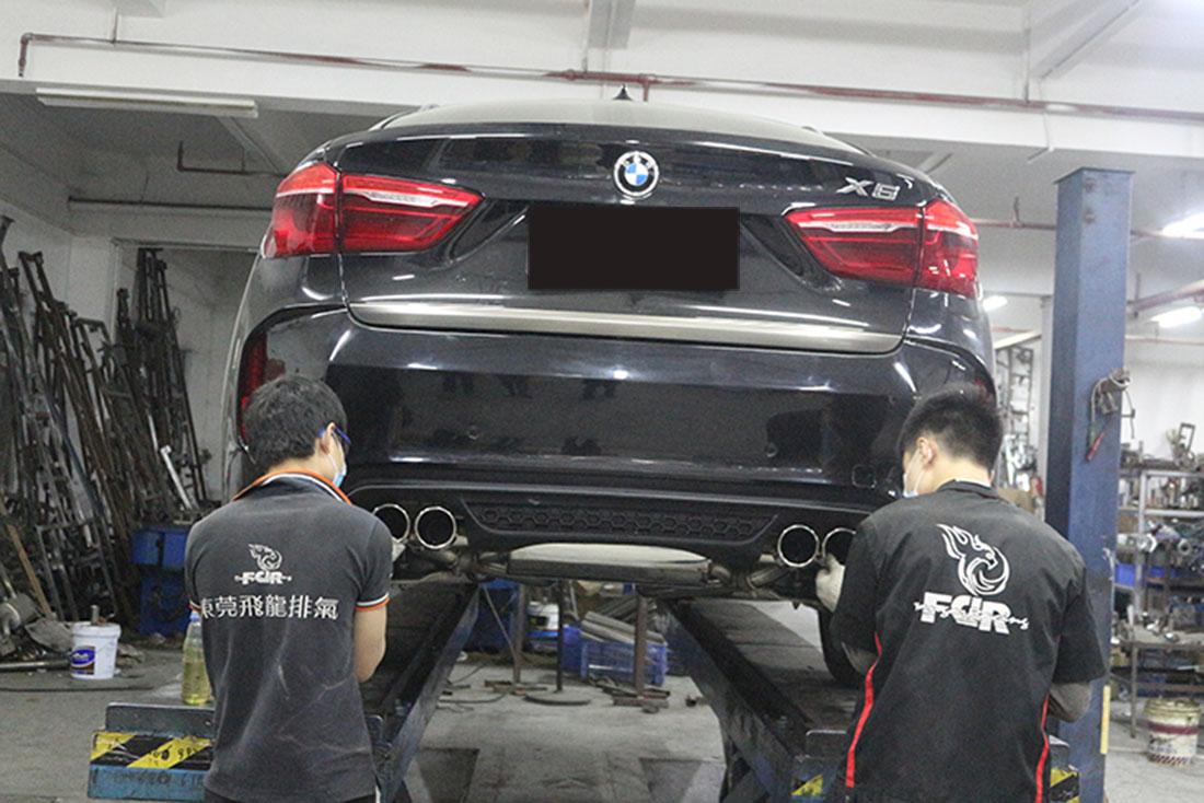 X6改装FDR阀门排气管