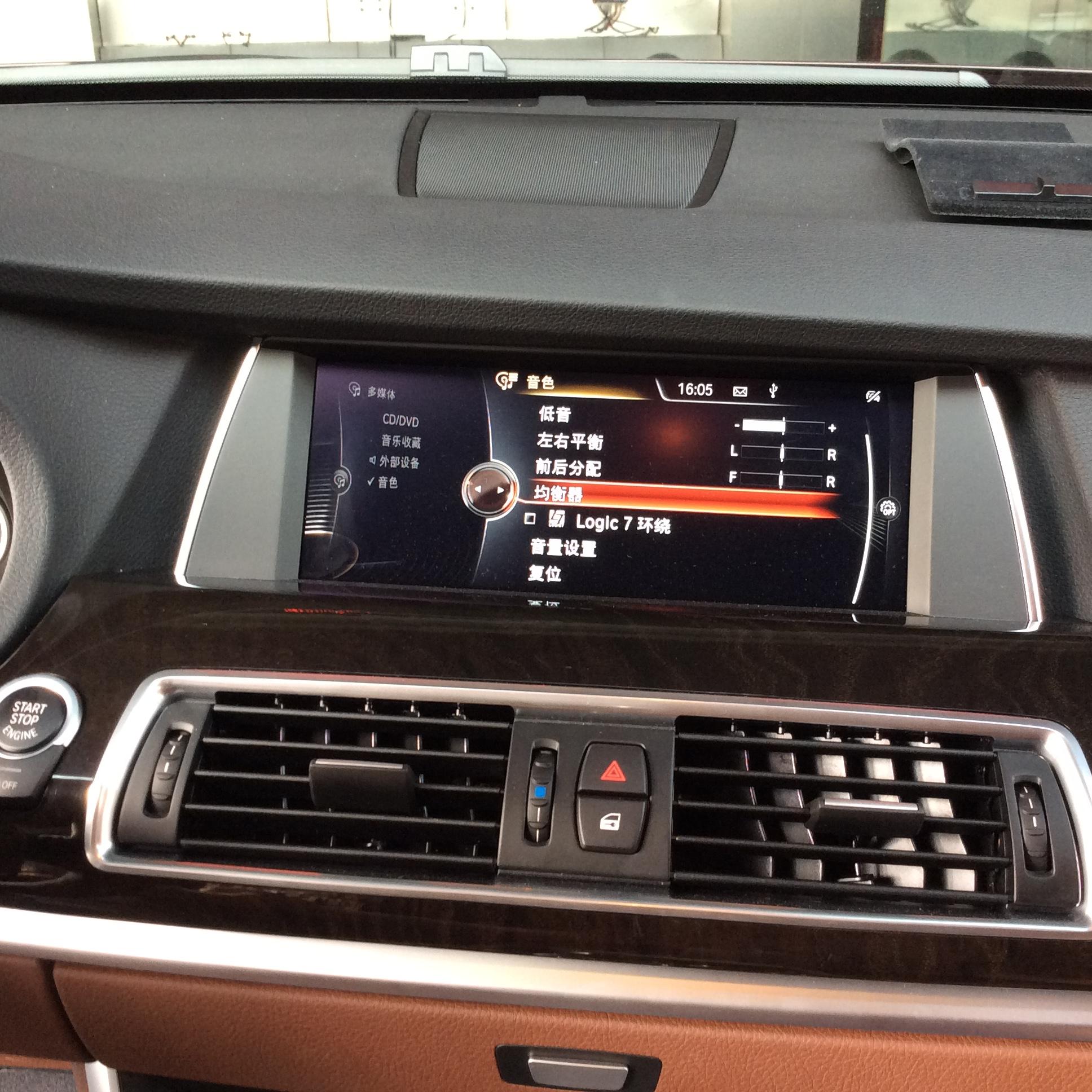 宝马5GT改装哈曼L7音响+M6方向盘