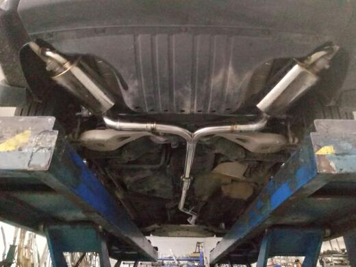 本田冠道改装飞龙阀门排气系统