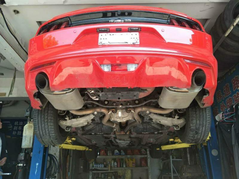 野马2.3T 改装Repose双边单出中尾段电子阀门排气                                      开阀门咆哮嘶吼,关阀门低调安静,动静皆宜。