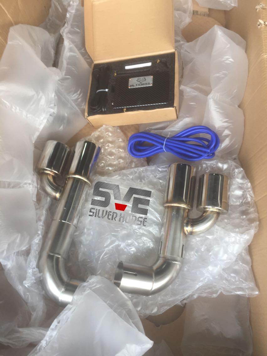 宝马3系320i改装SVE中尾段四出可变阀门排气搭配四出后唇